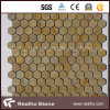 Hexagon Pattern Natural Marble Mosaic Tiles for Bathroom and Kitchen Wall