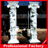 Hand Carved Sculpture Roman Marble Column