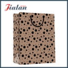 Black Dots Printed Custom Wholesales Promotion Kraft Paper Shopping Bag