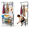Metal Shoe Rack Bag Clothes Garment Hanger Coat Rack