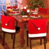 Christmas Hat Shape Chair Cover for Kitchen Decoration