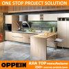 Oppein Contemporary Cherry Melamine T Shape Modular Kitchen Cabinets (OP15-053)