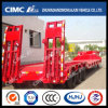 Red Lowbed Semi-Trailer with Concave Beam