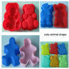 Lovely Animal Shapes Silicone Mold for Cake Jelly Cookie Biscuit