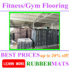 Two Parts PU Glue Rubber High Density Flooring Tiles Gym