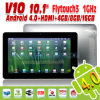 Tablet PC 10 Inch, Android 4.0, V10