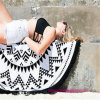 100% Cotton Round Circle Beach Towel with High Quality