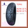 Tubeless, Super Quality Nylon 6pr Motorcycle Tyre with 90/90-10tl, 80/90-10tl