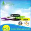 Rubber Wristband Debossed Logo with Custom Color Infilled