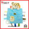 "7"" Soft Plush Baby Teething Blankie Bear Baby Teether"