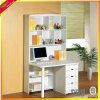 Cherry Office Furniture Computer Table with Bookshelf Computer Desk