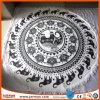 Hot Outdoor Digital Printing 100% Cotton Printed Round Beach Towel with Tassels