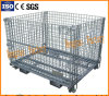 Folding Wire Cage for Warehouse Storage