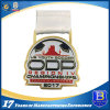 2D Soccer Sports Custom Creative Award Metal Medals with Sublimation Ribbon
