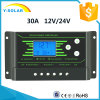 Hot-PWM 30AMP 12V/24V Back-Light Dual-USB Solar Regulator Z30