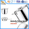 18/10 Stainless Steel Cookware Set Stew Pot & Flying Pan