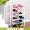Waterproof White Plastic Sneaker Rack Simple Shoe Stand