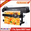 Hot Selling Funsunjet Fs-1700k 1.7m Outdoor Wide Format 1440dpi Printer with One Dx5 Head for Vinyl Sticker Printing