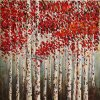 Aluminum Base Oil Painting for Tree