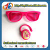 Promotion Plastic Glasses and Bluetooth Headset Toy