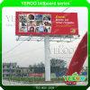 Outdoor Three Faces Outdoor Advertising Steel Unipole Billboard