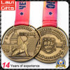 New Design Zinc Alloy Sport Racing Medal with Custom Ribbon