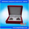 Souvenir Cufflinks with High Quality Fashion Handmade Leather Cufflink Box