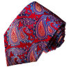 New Fashion Purple Colour Paisely Design Woven Silk Ties