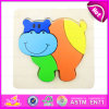 2015 New Arrival DIY Wooden Animal Puzzle Toy, Colourful Wood Jigsaw Puzzle, Hot Sale Animal Funny 3D Puzzle for Children W14L021
