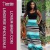 Casual Ladies Sleeveless Round Neck Fashion Maxi Dress (L51234-1)