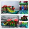 Waterslide Commercial Inflatable Combo, Strawberry Design Moonwalk, Air Balloons