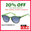Acetate and Top New Good Quality Lady Sunglasses (FCS8409)
