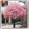 Garden Decoration Pink Artificial Silk Cherry Blossom Tree