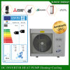 Split Condensor System -25c Snow Winter Floor Heating 100~300sq Meter Room 12kw/19kw Auto Defrost Through The Wall Heat Pump Evi