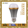 7W Aluminum LED Bulb Lamp with E27/B22