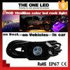 Wholesale Factory Price 4/6/8/12 Pods Bluetooth RGB Mini LED Rock Light 2 Inch 9W IP68 Waterproof RGB off Road LED Rock Light Kit