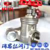 Industrial Stainless Steel Gate Valve with Threaded End