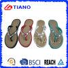 Glary Brilliant PVC Lady ′s Sandal Set with Diamonds (TNK35729)