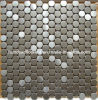 Round Silver Stainless Steel Metal Mosaic (SM235)