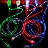 Type-C Mobile Phone Chasing LED Light Charging Data USB Cable for iPhone Samsung