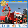 Dongfeng 4X2 Water Extinguish Fire Engine Truck with Rescue Crane