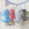Fashion Stripes Pet Dress Cute Soft Dog Skirts