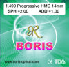 Progressive Cr39 1.499 Short Corridor 14mm Hmc Optical Lens