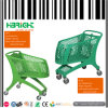 Grocery Full Plastic Supermarket Shopping Cart Trolley