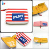 Custom Canvas Flag Wallet Fashion Stripes Wallet with Zipper