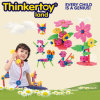 Early Learning Plastic Open-End Block Flower Toy for Girls
