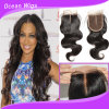 Middle Part Body Wave Indian Virgin Remy Hair Silk Top Lace Closure (CL-020)