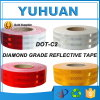 Free Samples Self Adhesive Infrared White Red / Yellow Micro Prism Reflective Tape