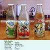 Vintage Old Style Small and Large Milk, Beverage, Water, Drink Glass Bottles with Lids