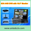 8 Channel LCD DVR Combo with 10.5 Inch Monitor Screen, All-in-One CCTV DVR Recorder for CCTV Security